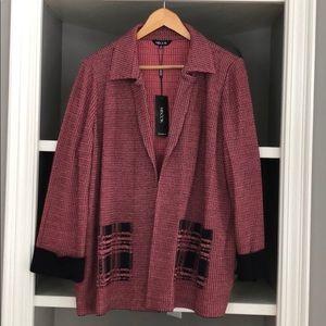 Misook women's jacket salmon NWT size XL